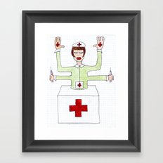Mrs. fuck vaccine Framed Art Print
