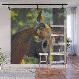 Curious Horse IV Wall Mural