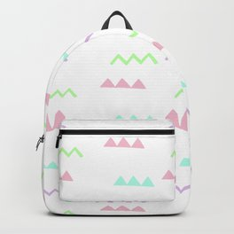 Abstract pink teal minimalist geometrical pattern Backpack