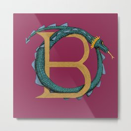 Animal Alphabet The Basilisk Metal Print