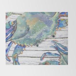 Beautiful Blue Swimmer Throw Blanket