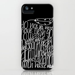 NOT WITH HASTE iPhone Case