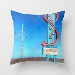 Vintage Neon Sign - Joyland Throw Pillow