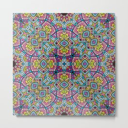 Persian kaleidoscopic Mosaic G515 Metal Print