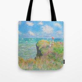 12,000pixel-500dpi - Cliff Walk at Pourville - Claude Monet Tote Bag