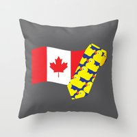 himym Throw Pillows featuring HIMYM Couples - Barney & Robin by Raye Allison Creations