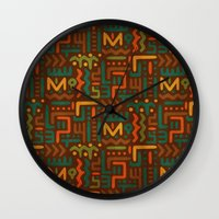 african Wall Clocks featuring African by Arcturus