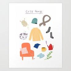 cozy things Art Print