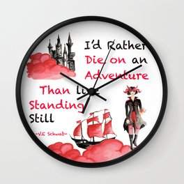 Delilah Bard, A Darker Shade of Magic Quote Wall Clock