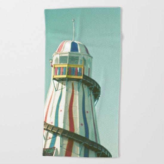 Summer Slide Beach Towel