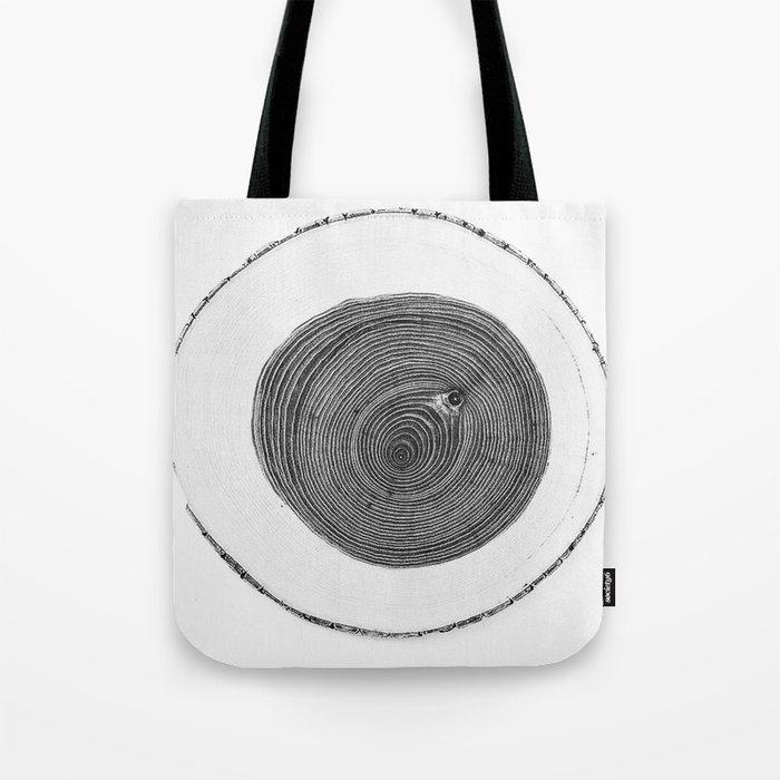 Cut wood -Scandinavian art Tote Bag