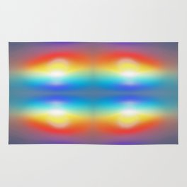 Abstract sunsets Rug