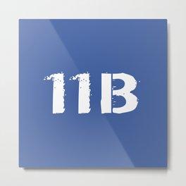 11B Infantryman (Blue) Metal Print