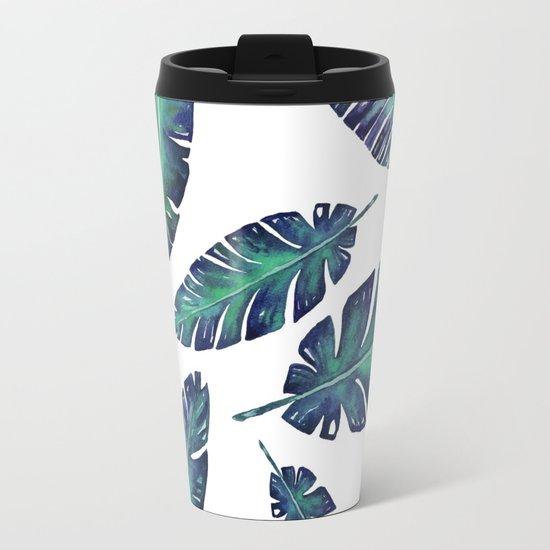 Watercolor garden leaves Travel Mug