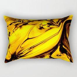 Honey Golden Abstract Painting Rectangular Pillow