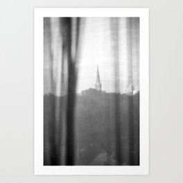 Chapel on a hill. Art Print