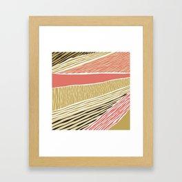 Modern irregular Stripes 05 Framed Art Print