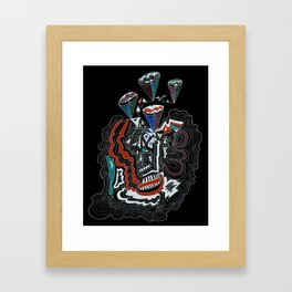 Maze Cones (dark) Framed Art Print