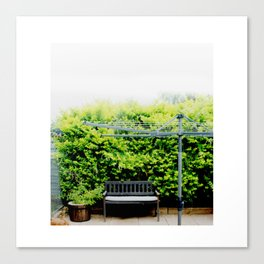 Bench in Overcast Canvas Print