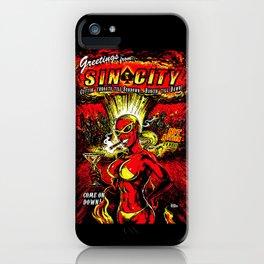 Devil Girl Sin City Atom Bomb iPhone Case