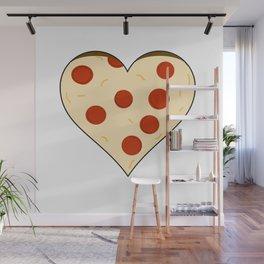 Pizza Heart Wall Mural