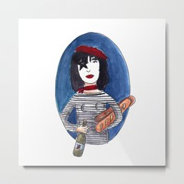Sloppy French Kiss Metal Print