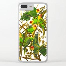 Carolina Parrot Clear iPhone Case