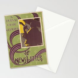 sf newsletter   a journal for the cultured. 1900  Affiche Stationery Cards