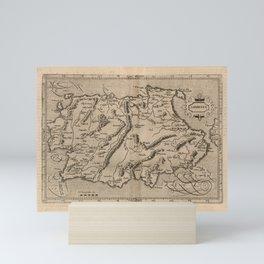Vintage Sardinia Italy Map (1600) Mini Art Print
