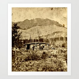 Seven Lakes Cabin Hotel and Pikes Peak Art Print