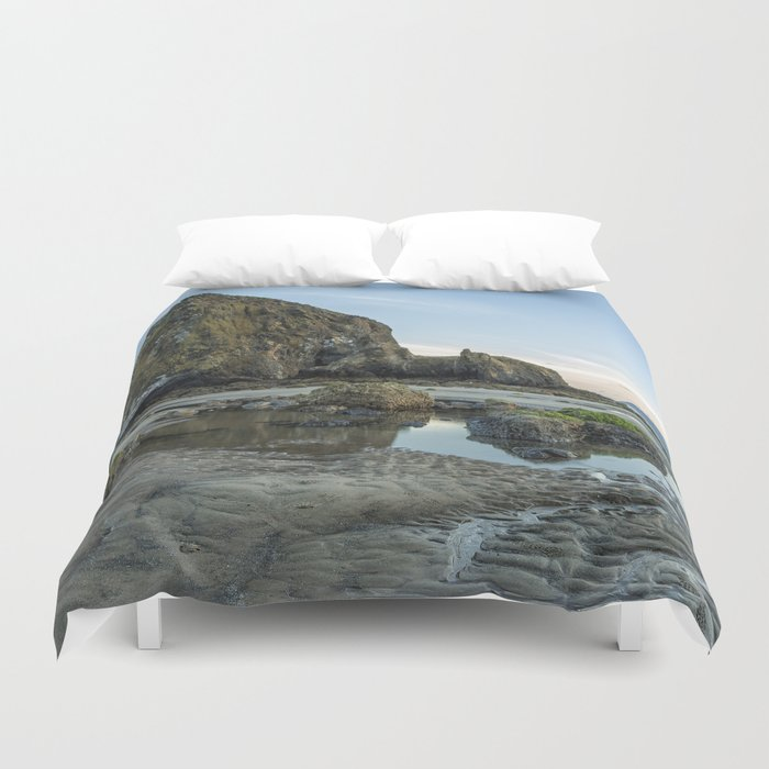Morning at Cannon Beach Duvet Cover