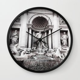 I wished for happiness - trevi fountain Wall Clock