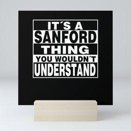 SANFORD Surname Personalized Gift Mini Art Print