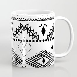 Tribal Hash, linear geometric. Coffee Mug