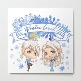 Winter Court Metal Print