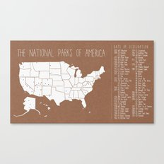 The Hand-Painted National Parks of America Canvas Print