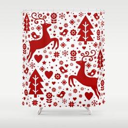 Scandinavian Christmas pattern Shower Curtain