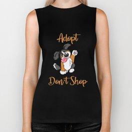 Adopt Don't Shop Dog animal shelter gift present Biker Tank