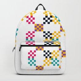 pixel pink pattern Backpack