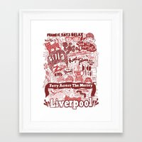 liverpool Framed Art Prints featuring Liverpool by leeann walker illustration
