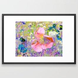 Secret Garden IV - Floral Abstract Art Framed Art Print