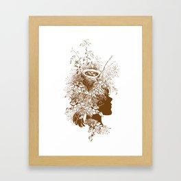 Birds Nest Head Framed Art Print
