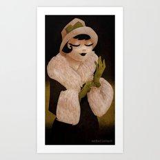 glove lady Art Print