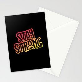Motivation Stay Strong Motivation Sport Stationery Cards