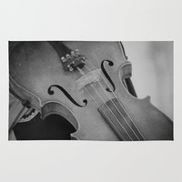 violin Area & Throw Rugs featuring Violin by KimberosePhotography