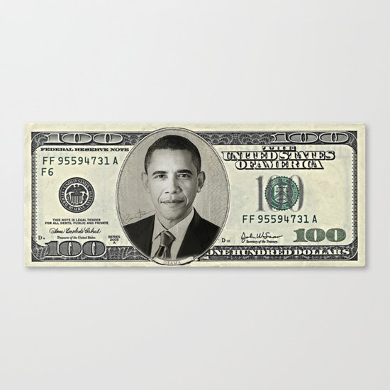Mr President's Green Canvas Print