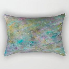 Rainbow Crystal Marble Rectangular Pillow