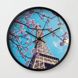 Springtime in Paris Wall Clock