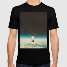 Falling with a hidden smile LARGE Black Mens Fitted Tee