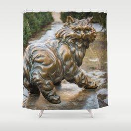 bronze cat Shower Curtain